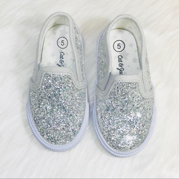 051e9ee23f13 Cat & Jack Shoes | Toddler Glitter Sneakers | Poshmark